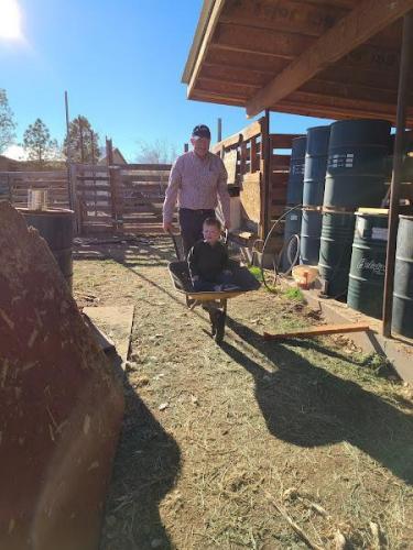 Grandkid time at Uncle Dan's farm