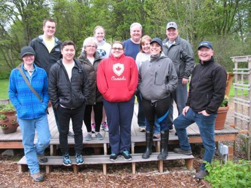 Volunteering at the Light of Christ Garden